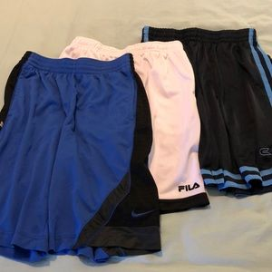 Gym shorts group of 3